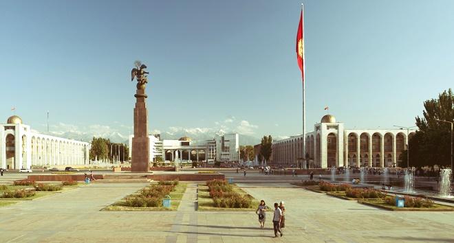 Başkent Bişkek'ten bir görüntü.