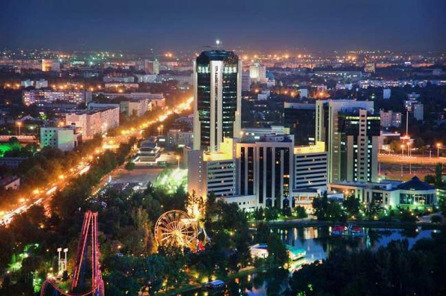 Başkent Taşkent'ten bir görüntü.