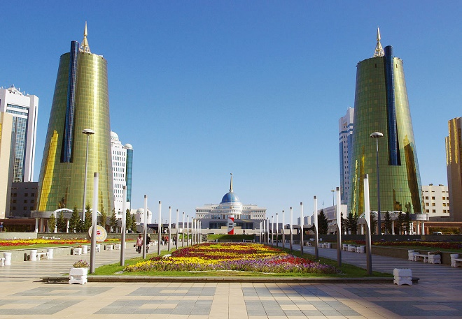 Başkent Astana'dan bir görüntü.